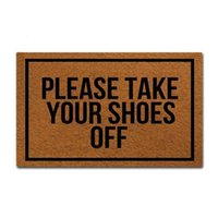 Please Take Your Shoes Off - Woven Outdoor Mat Design Doormat For Entrance Door Funny Front Indoor Rug Non Slip Carpets