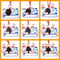 Christmas Decorations 2021 Family of 1 2 3 4 5 6 7 8 9 Resin Hanging Pendant Personalized DIY Christmas Tree Ornament w-00991