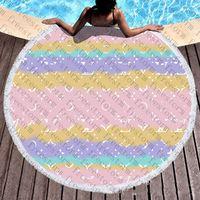 Plein Lost Print Plage Serviettes Fashion Flora Modèle Designer Serviette Holiday Beach Style Soft Soft Serviette