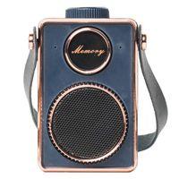 Tragbarer Bluetooth-Lautsprecher, Mode-Retro-WLAN-Lautsprecher-Mini-Stereo 4. 0 Outdoor Surround-Sound-Lautsprecher
