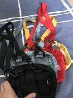 작은 어깨 가방 유틸리티 파우치 메쉬 휴대용 투명한 세면 용품 화장품 저장 가방 4 색상 재고 있음