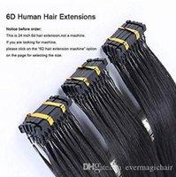 Color personalizado disponível 6D extensões de cabelo humano 9a preto blonde marrom ombre Destaque 100strandos 100gram / conjunto pode ser denominado ferro