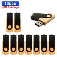 USB Flash Drive USB2.0 Maple Wood+Packing Box 4GB 8GB 16GB 32GB 64GB Memory Stick Custom Logo for Creative Gifts