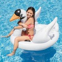 Simning ring vuxna uppblåsbara leksaker whooper swan fågel barn mount flytande rad säng vatten strand spela parti supplies gyq