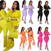 Women Jogger suit Fall winter Clothing long sleeve tracksuits hooded Jacket crop top+pants two Piece Set Outfits Plus size S-2XL Casual black sweat suits 5643