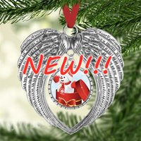 Blank Sublimation Blanks Ornamento di Natale Decorazioni Angelo Ali Forma Blank Aggiungi la tua immagine e lo sfondo
