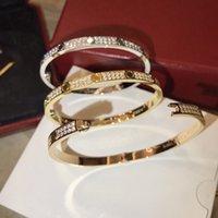 Luxus top feine marke reine 925 sterling silber schmuck für frauen schraube fahrer armreif dünn design rose gold diamant liebe armreif hochzeit engagement schraube armband heiß