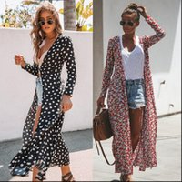 Dress Tunic Robe up Womens Dresses Swimsuit Covers Bathing Suit Summer Wear Polka Dot Cardigan Swimwear Bikini Beach Cover