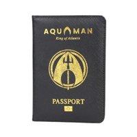 Kartenhalter Dikedaku Cartoon Passhalter RFID Kreuz Muster PU Lederabdeckung Arthur Curry Brieftaschen Geldbörse Tropfen