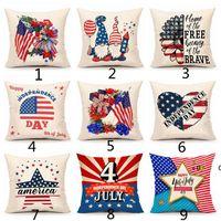 American Independence Day Pillow Case Divano Cuscino Cuscini Della Decorazioni per la casa Sedile Sedile America Bandiera Bandiera Cuscini da cuscini da cuscini da bandiera 45 * 45cm EWE6353