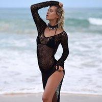Neue Frauen Sexy Bikini Strand Tusche-up Badeanzug Cover Up Badeanzug Sommer Beachwear Häkeln Badebekleidung Mesh Beach Kleid 1479 Z2