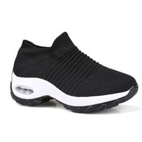 6LRC Casual shoes 1839 large size women's air sports cushion high rocking leisure flying weaving one foot on mom's shoes WJKS