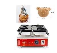 Ice Cream Bear Cone Food Processing Equipment Taiyaki Maker Machine 110v 220v Animal Cartoon Waffle Baker Iron Pan