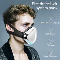 دراجة نارية الخوذات الذكية قناع reusable الغبار لتنقية الهواء الوجه مع استبدال الكربون المنشط فلتر التوربينات الكهربائية مروحة في الهواء الطلق TSL