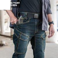 Сектор семь 2021 тонкий город повседневные джинсы мужчины середины талии прямые джинсовые классические индиго синие черные износостойкие мужчины
