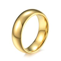 Handgefertigte Schmuck-Paar-Hochzeitsringe für Männer und Frauen 4mm 6mm 8mm Hartmetall-Wolframgold-Ton-Ehe (6 Stück / Los)