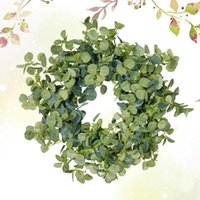 Decorative Flowers & Wreaths 1PC Imitation Green Money Leaves Garland Wall Hanging Decoration Pography Props For Home Store Festival Wedding
