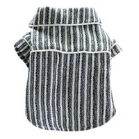 개 의류 애완 동물 스트라이프 코튼 잠옷 영국 스타일 편안한 패션 사랑스러운 맞춤형 안전한 건강한 절묘한 공예