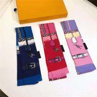 Роскошный бренд Женская мода шарфы дизайнерские повязки классическая сумка шарф высококачественный шелковый материал размер 8 * 120см