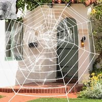 Décoration de fête Stretchyweb Halloween Halloween Terror Terror Bar Haunted House Spiders Décor web