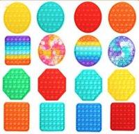 POP IT FIDGE TOY Флуоресценция Push Pop Bubble Sensosory Fidget Sensosory Toy Autimy Tructivy Stress Reverever Увеличение фокусировки Мягкая DHL Быстрая доставка