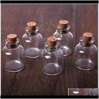 Бутылки 5 шт. 4 мл мини стекло, желающие бутылку пробки пробку пустой образец Джарды DIY подвески хранения флакон свадьба украшения дома JLLMWG S3R GR4V3