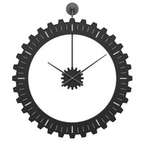 Nordic Design Fashion Wall Clock Silent Metal Minimalist Living Room Watch Mechanical Single Face Duvar Saati Clocks EF50WC
