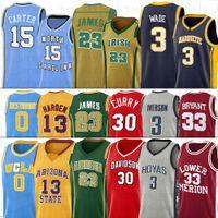 NCAA UCLA College Kevin Harden Durant Баскетбол майки Стивен Аллен Рассел Иверсон Карри Вестбрук Дуэйн Винс Уэйд Картер