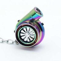Designer Creative automobile cigarette chain business USB rechargeable metal lighter car key pendant