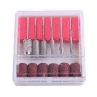 Teste di lucidatura per unghie da 2,35 mm Diametro 12 pezzi Levigatura e nastri in acciaio inossidabile Drill Suggerimenti