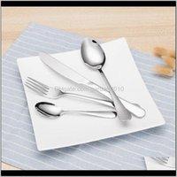 Couverts de vaisselle Couverts de vaisselle Couteaux en acier inoxydable Fourches Spômes Dîner Dîner Ensembles de dîner Western Food Restaurant PJOPN NBFQA