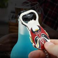 Apristitori a forma di faccia a forma di viso cinesi di pechino creativo Birra aperti di bottiglia portachiavi per i regali dei souvenir oWe10111