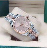 Vestito da donna in oro di alta qualità orologio da donna 31mm data zaffiro orologi meccanici automatici orologi in acciaio inox braccialetto in acciaio inox womens impermeabile box box box regalo