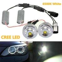 2x 20W White LED Angel Eyes Halo Light Bulbs For BMW E60 528i 535i LCI Super Brightness Long Lasting Life Bulb For Car Accessori