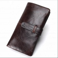 women wallet high quality genuine Leather long style money clutch bag Fashion Oil wax skin Lady hasp Coin Purse