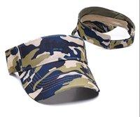 Whole Fashion Designer Golf Sun Visor Sunvisor Party Hats Baseball Cap Sports Sunscreen Hat Tennis Beach Elastic Empty Top Caps
