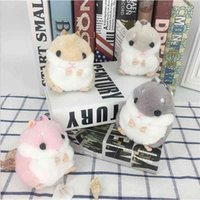 Cute creative hamster Keychain plush toy Japanese cute small pendant doll backpack decoration
