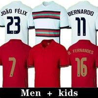 2021 رونالدو لكرة القدم الفانيلة فريق وطني جواو فيليكس جيرسي 20 21 برناردو أندريه سيلفا B.fernandes Guedes Pizzi Camisa de Futebol Men Kids Kit SHOTTS
