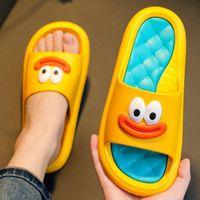 Sandalen Hausschuhe der Frauen-Cartoon-Hausschuhe gleiten in schöne untergezogene Zehe, bequem f27o