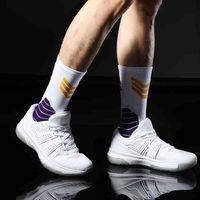 Men's Socks No23 No24 La James Kb Lbj Basketball Player Thick Sport Crew Towel Digital Number Los Angeles Team Twenty Three Four Arrow