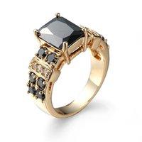 Anelli di dichiarazione colorata classica di lusso delle donne anelli lucido multicolore cristallo cubico zircone in pietra anello anello banda boho matrimonio
