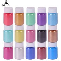 Biutee 15 Color For Lip Gloss Expoxy Cosmetic Mica Powder Set Kit for Resin Food grade Pigment