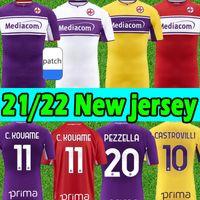 2021 2022 Fiorentina Jerseys de Fútbol Ribery Callejon Pezzella Chiesa 21/22 Firenze 축구 유니폼 Vlahovic Maillot de Pie Florence 축구 셔츠