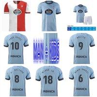 21 22 RC Celta de Vigo Jersey Soccer Jersey 2021 2022 Lobotka Iago Aspas Santl Mina Man + Kids Kit Casa Away Camicia calcio Shirt Sisto Boufal Camiseta Futbol