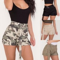 039 Camouflage Army Sexy Sport Women Short Tactical Jogger Military Casual Straight Belt High Waist Streetwear