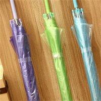 ملون شفاف طويل مستقيم مقبض مظلة التلقائي الأسود rainbow مخصص شعار مظلة ماء 8 مظلات العظام 4 R2