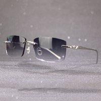 Occhiali da sole casuali Uomo Donna Vetro Classico Femmina di lusso per BHEUD Trendy BHEUD Frame Carter con e occhiali Maschio Della decorazione Panther XHPDX