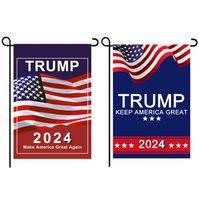 Donald Trump 2024 bandera 30 * 45cm Maga Banner Mantenga Americia Grandes banderas de jardín