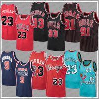 Chicago Bulls NBA Баскетбольная майки 23 Майкл Джордан 33 Скотти Pippen 91 Dennis Rodman Mitchell Ness Rembe