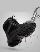جديد شتاء للتأمين العمالة أحذية رجالية عالية الأدوات الصلب تو قبعات مكافحة تحطيم ثقب لحام الموقع أحذية السلامة الباردة الدافئة